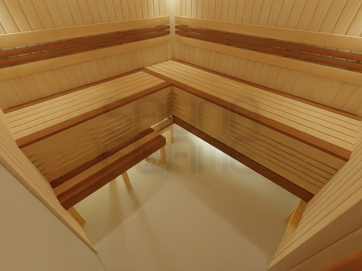 Выдвижной полок в сауне